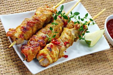 brochette de poulet satay