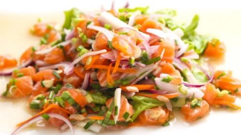saumon cru façon thai
